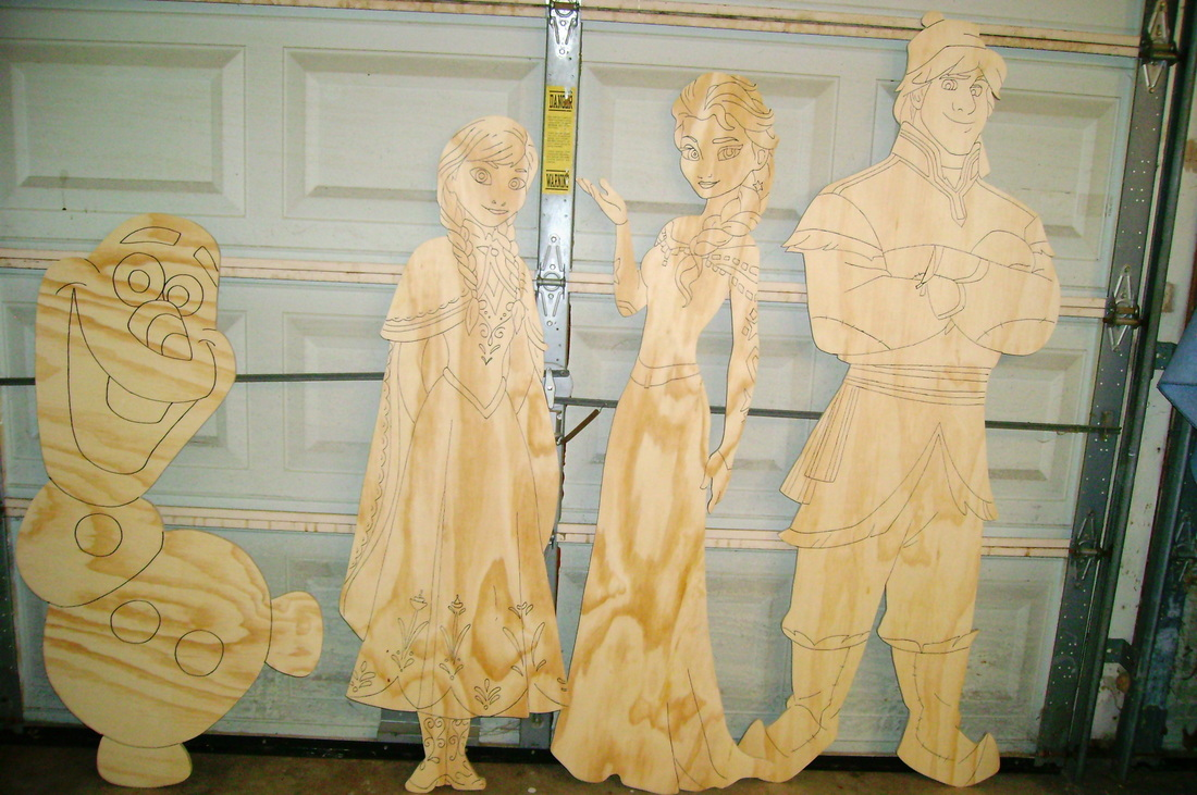 Unpainted Wood Yard Art Cutouts Ready To Paint Yourself - Holiday ...