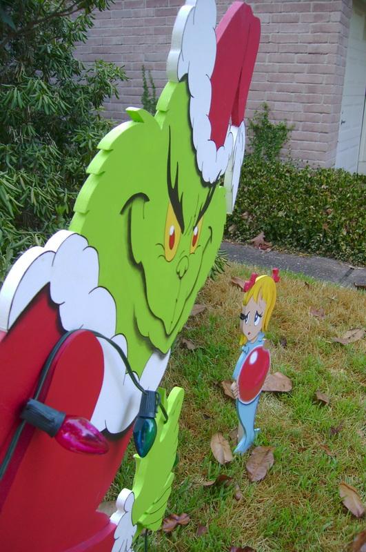 The Grinch In 3d Yard Art Yard Art Custom Made To Order