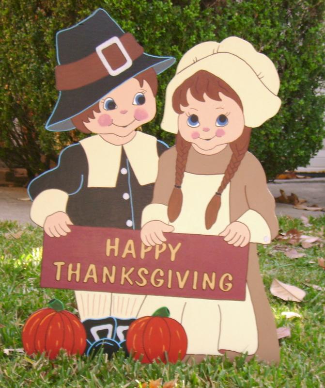 Thanksgiving Yard Art Decorations  Holiday Yard Art Made