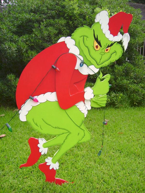 Lights the grinch yard art decorations made to order holiday