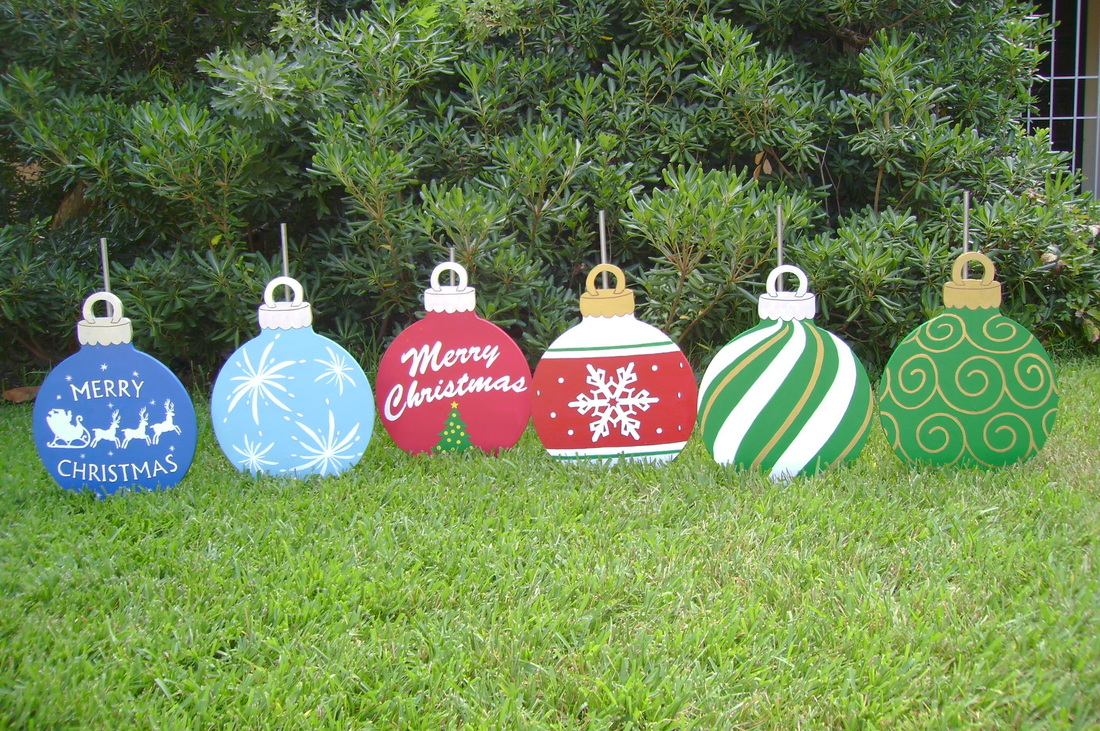 Christmas yard ornaments holiday yard art made by art de for Christmas decoration yard