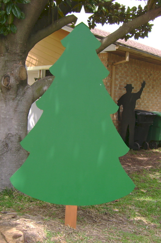 Wood Christmas Tree Made To Order Yard Art Custom Made To Order By Art De Yard Houston Tx