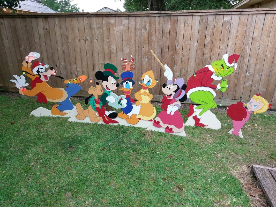 disney christmas yard art holiday yard art made art de yard jpg 1067x800 mickey mouse wooden - Disney Wooden Christmas Yard Decorations